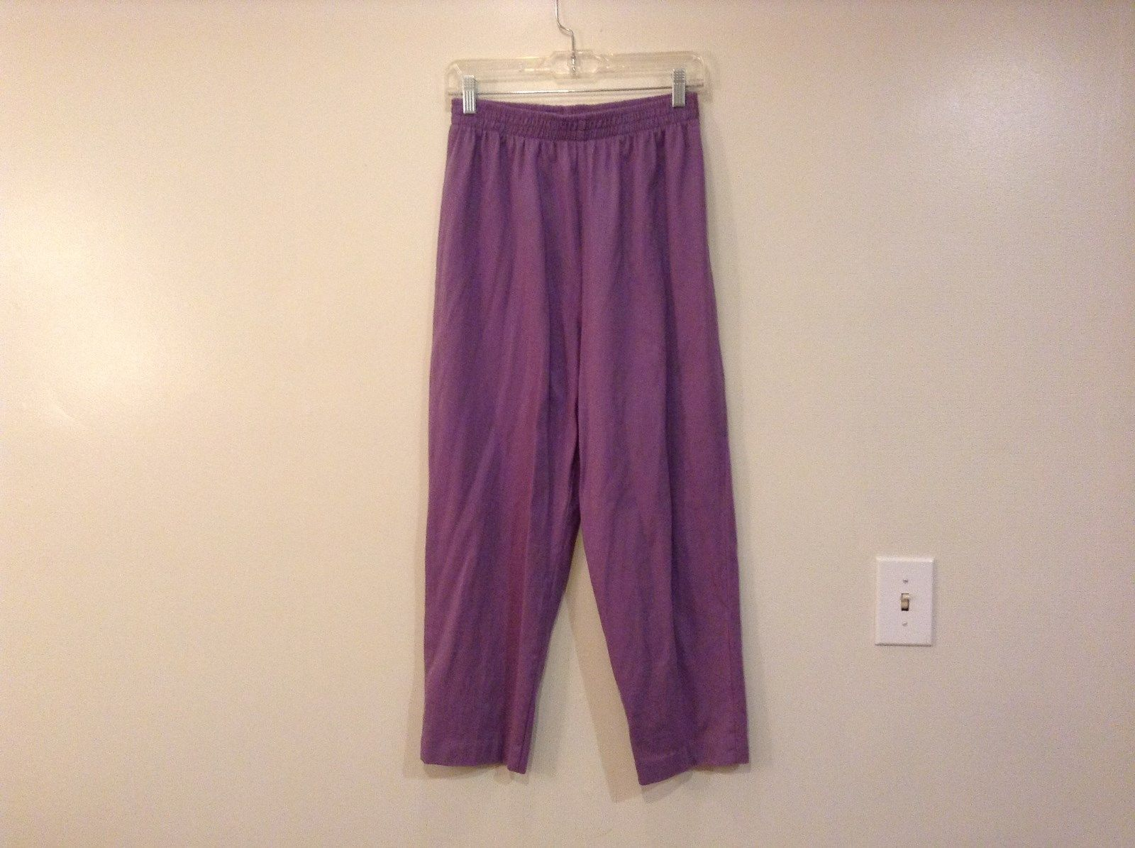 KWBL Los Angeles Lavender Pants Elastic Waist No Tags See Measurements Below