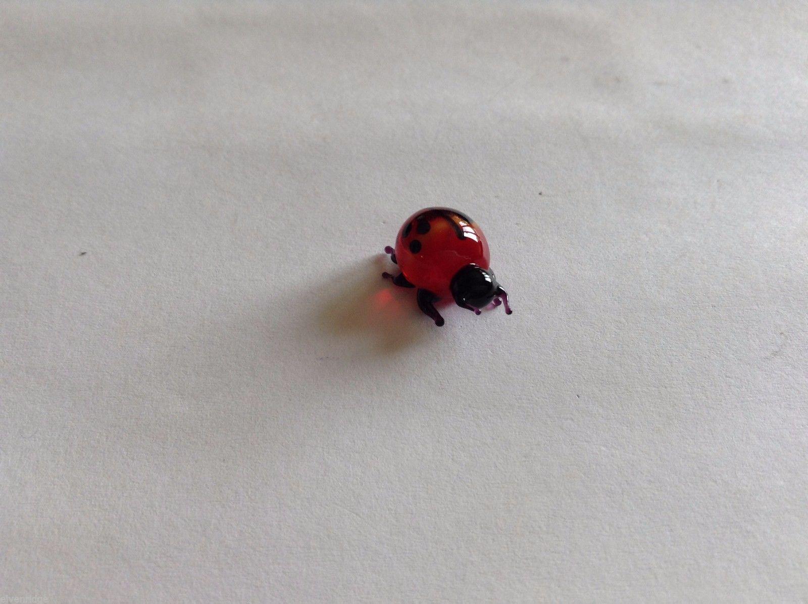 Micro Miniature small hand blown glass made USA cute ladybug