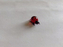 Micro Miniature small hand blown glass made USA cute ladybug