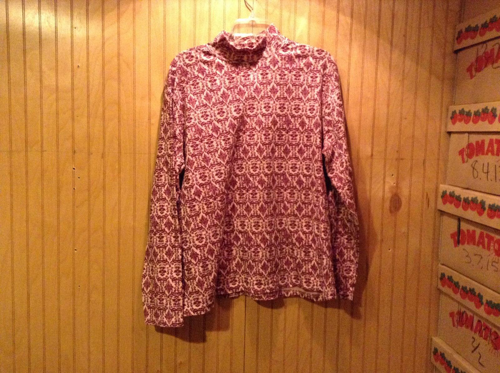 Karen Scott Sport Long Sleeve Shirt Turtleneck Size XL Cotton
