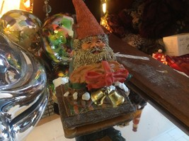 Karl the Gnome giving the gift of a loaf of bread figurine 1995