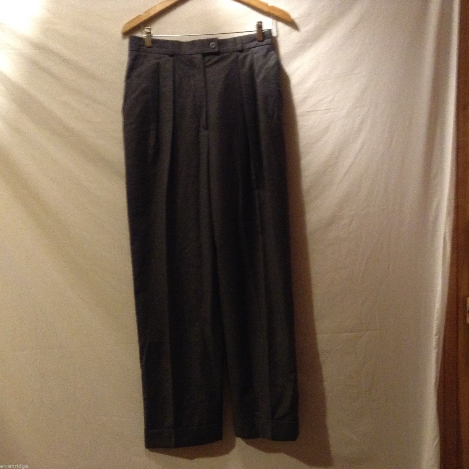 Kashmir & Wool Mens Gray Dress Pants, Size 10