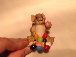 I Love My Yum Yums Charming Tails Figurine Mouse Eating Colored Jellybeans image 8