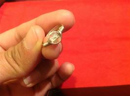 Homemade 4.1 quarter ring wrap germanium prevent tarnish crystal glass silver image 7