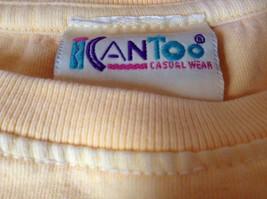 ICantoo Casual Wear Yellow Short Sleeve T Shirt Kona Hawaii Flip Flops Size S image 5