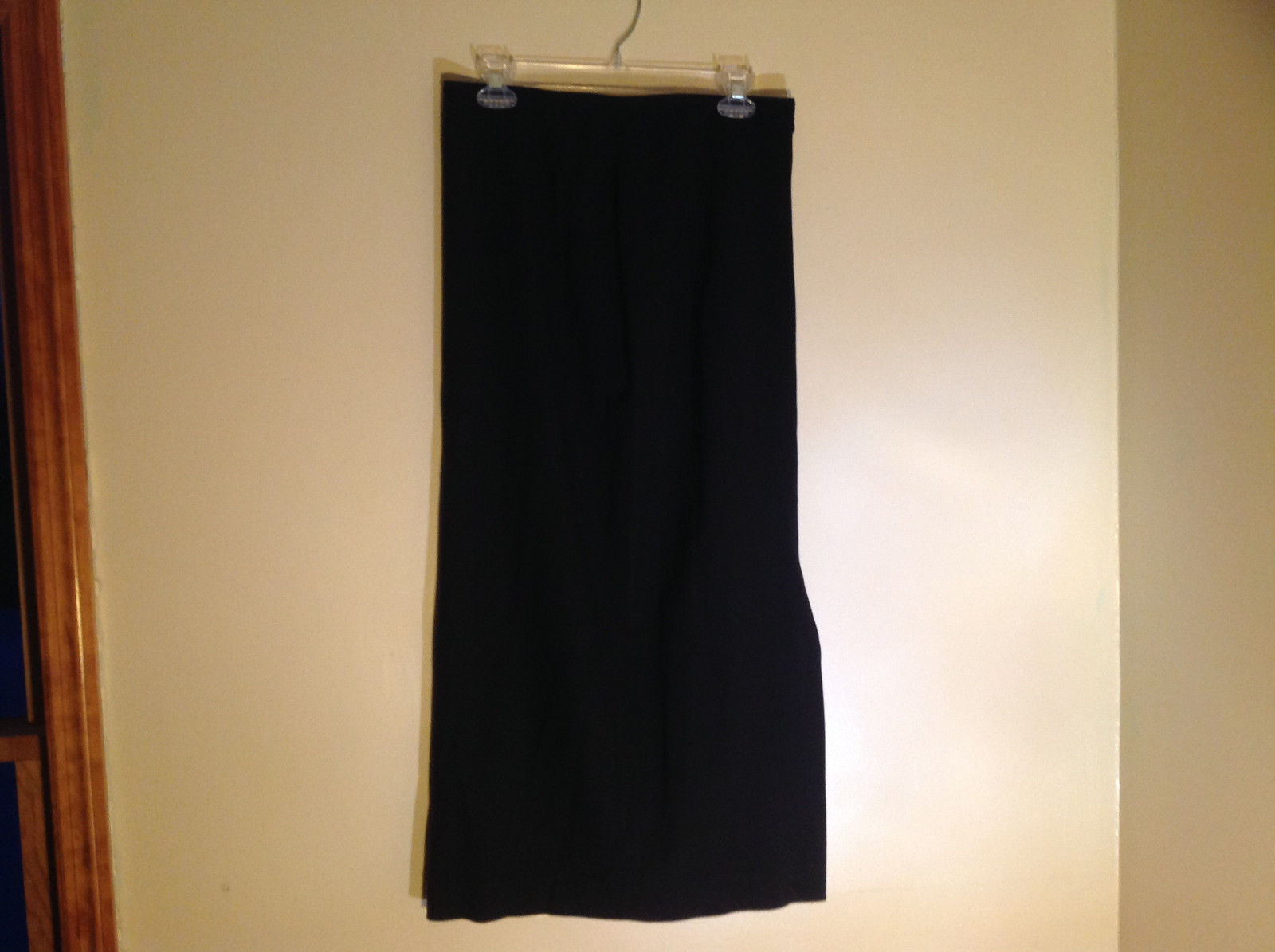 Kasper and Company Black Calf Length Skirt Zipper Closure Size 10