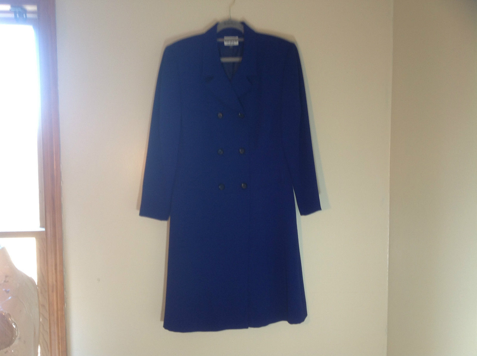 Kasper for A.S.L. Long length royal blue double breasted peacoat  Size 10