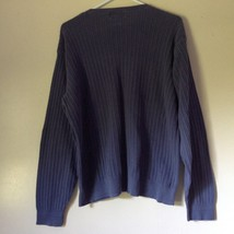 Alfani Size XL Long Sleeve V Neck Blue Sweater 100 Percent Cotton image 5