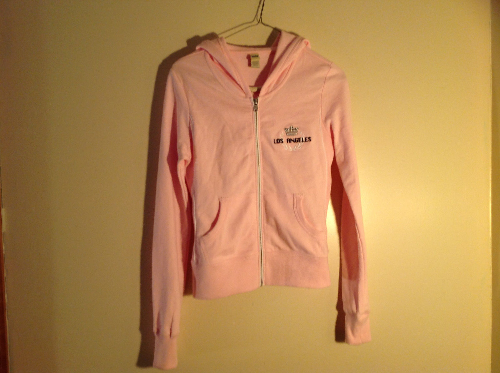 Kavio Pink Los Angeles Zip Up Long Sleeves Hoodie Jacket Size Small