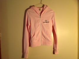 Kavio Pink Los Angeles Zip Up Long Sleeves Hoodie Jacket Size Small