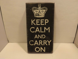 Keep Calm and Carry On Home Decor Sign image 1