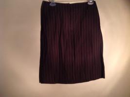 Kenar Brown with Pink Stripes Skirt Back Zipper Closure Belt Loops Size 4 image 1