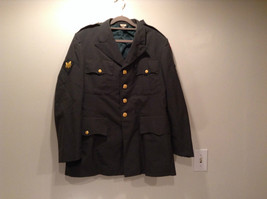 ARMY Uniform Jacket Coat Dark Green Cotton Blend Size 41R  Army Green image 2