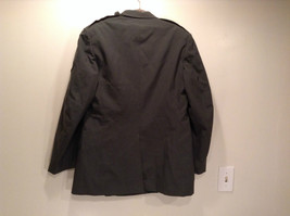 ARMY Uniform Jacket Coat Dark Green Cotton Blend Size 41R  Army Green image 3