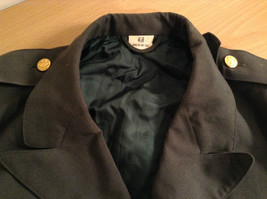 ARMY Uniform Jacket Coat Dark Green Cotton Blend Size 41R  Army Green image 5
