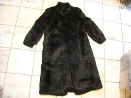 Luxurious black  fur coat full length size Medium image 10
