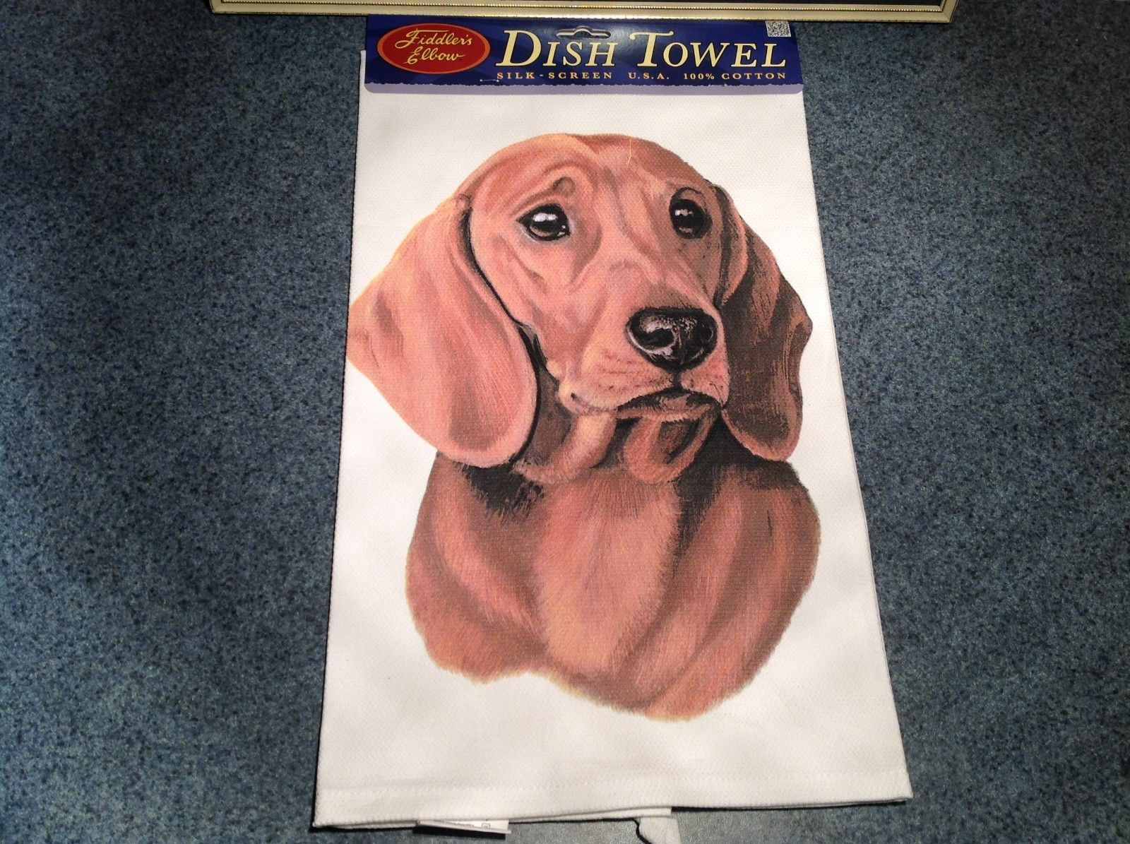 Kitchen Cotton Towel  Dachshund Dog Profile Made in USA