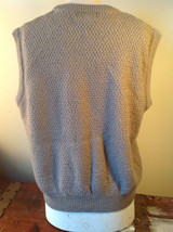 Lovely Tan Sleeveless Sweater Vest Acrylic and Wool Alfred Dunner Size XL image 4