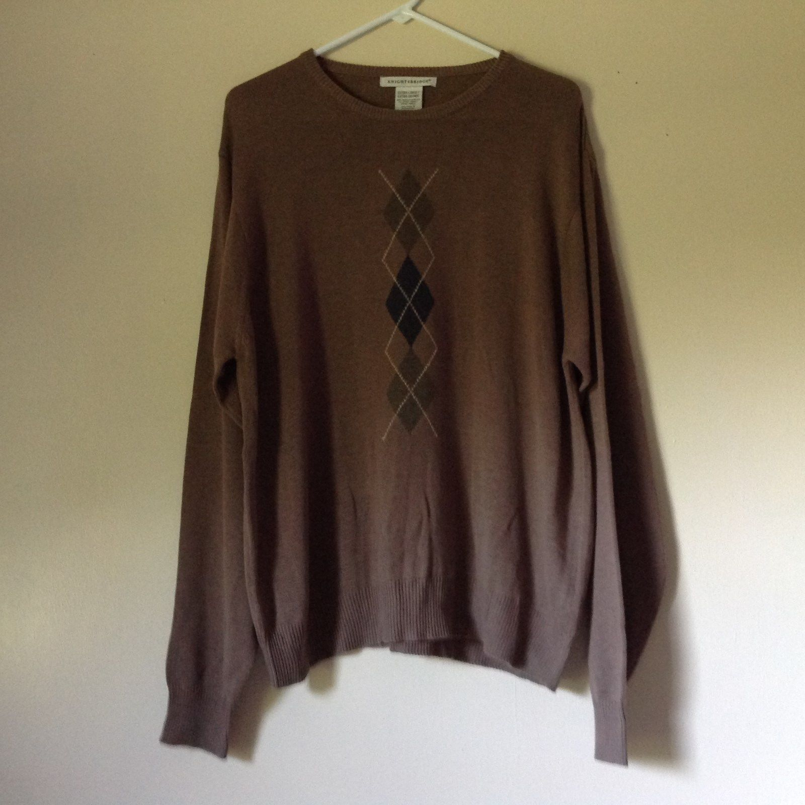 Knightsbridge Long Sleeve Brown Sweater Size XL