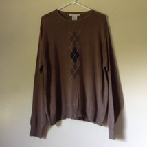 Knightsbridge Long Sleeve Brown Sweater Size XL image 1