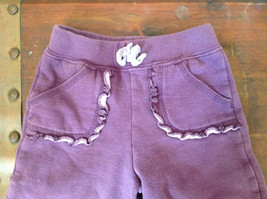 Infant Purple Frilly Tie Waist Pants by Carter Size 18 Months image 2