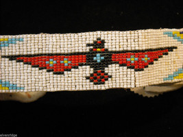 Indigenous People's Beaded and Feathered Costume Head Piece image 2