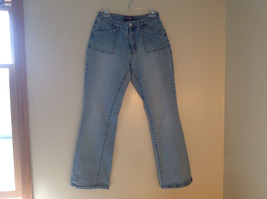 L A Blues Light Wash Square Pocket Straight Leg Blue Jeans 4 Pockets Size 12 image 1
