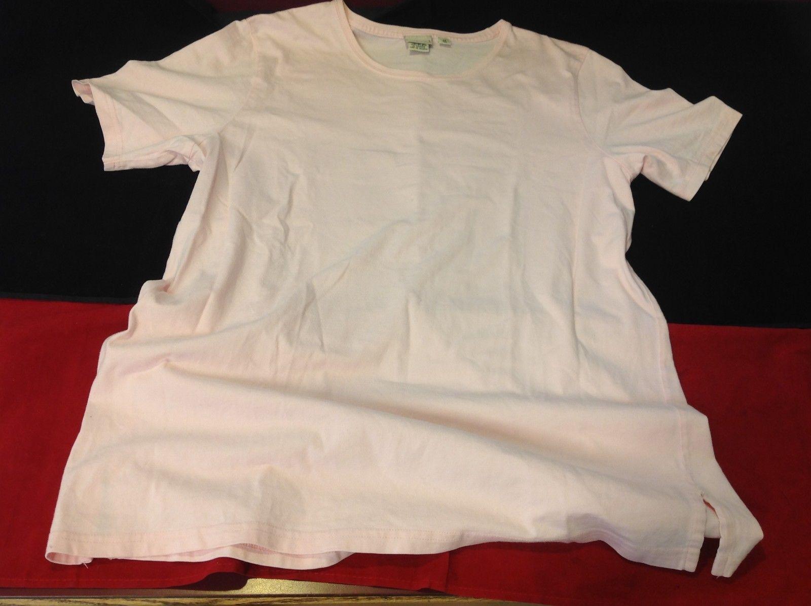 L Bean short sleeve shirt light pink size medium for women