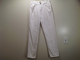 L L Bean 100 Percent Cotton Size 6M White Jeans Front and Back Pockets