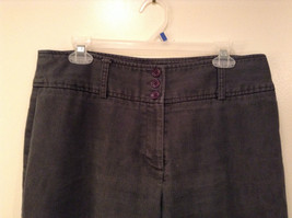 Ingredients Size 12 Gray Casual Pants Cuffed Pant Legs 3 Buttons Zipper Closure image 3