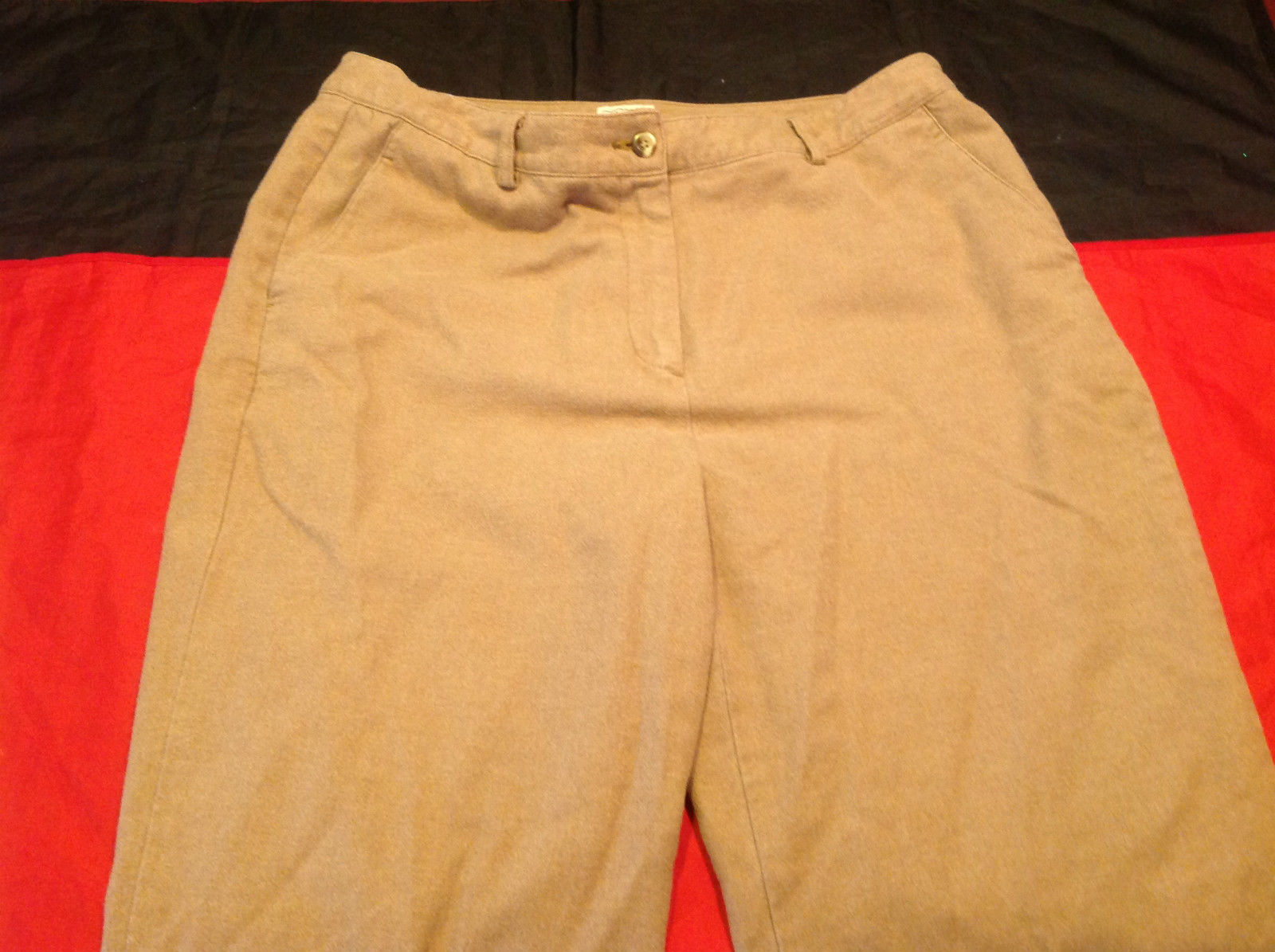 L.L. Bean Size 15 Regular Mustard Colored Ladies Casual Pants