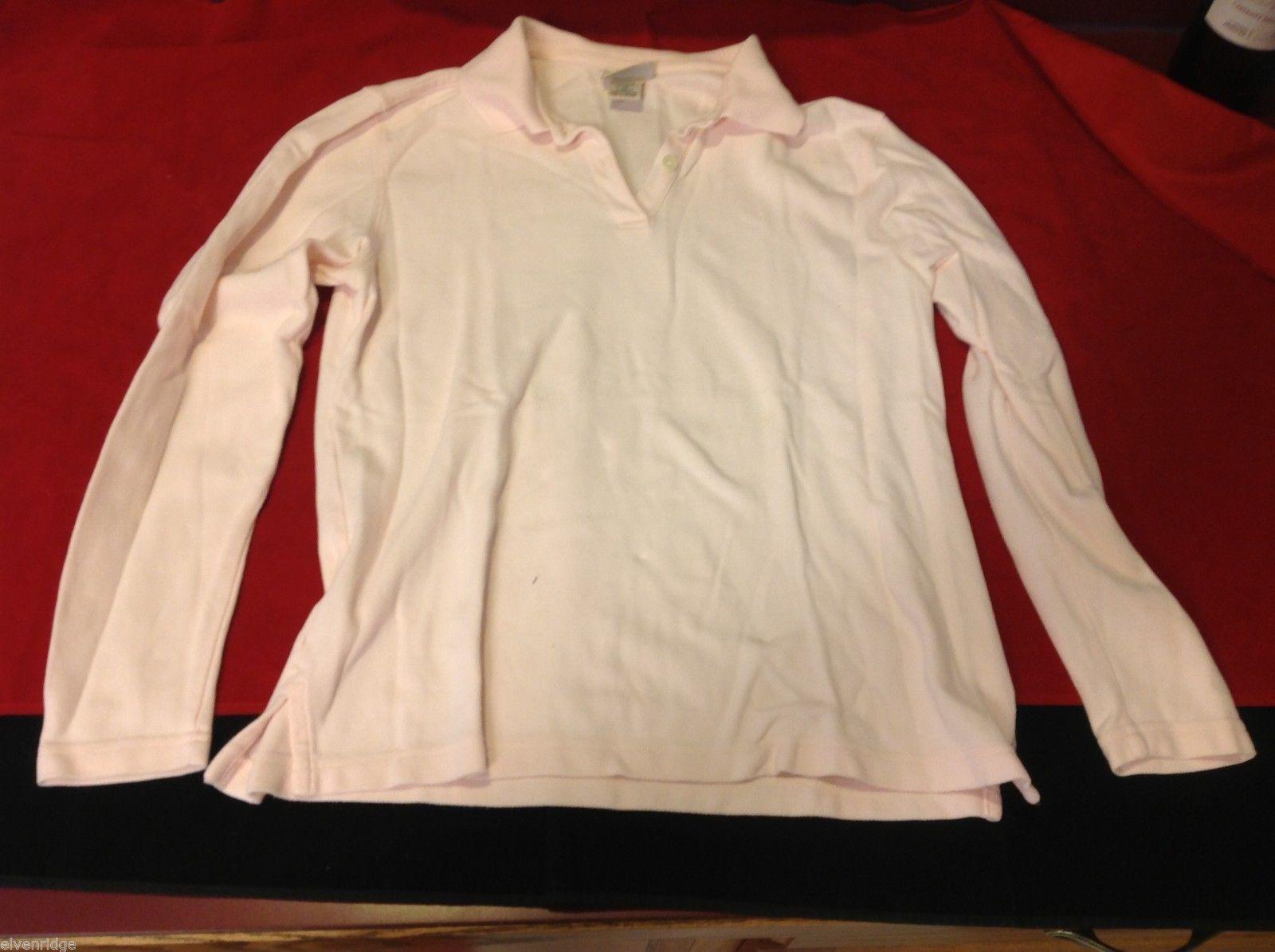 L.L Bean women's xs long sleeve polo shirt pink
