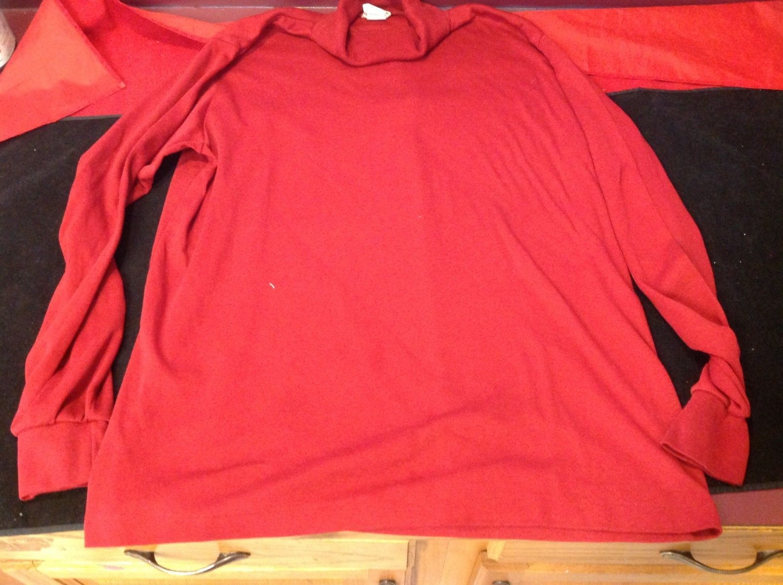 LL BEAN red tutleneck sweater for woman size xl