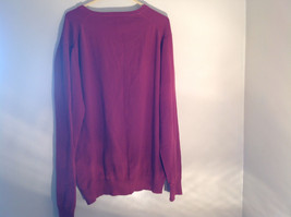 Maroon Dark Red Lands End V Neck Shaped Stretchy Casual Sweater Size Large image 8
