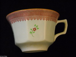 Adams 4 older Lowestoft #2087  tea cups  saucers CalyxWare Ironstone image 6
