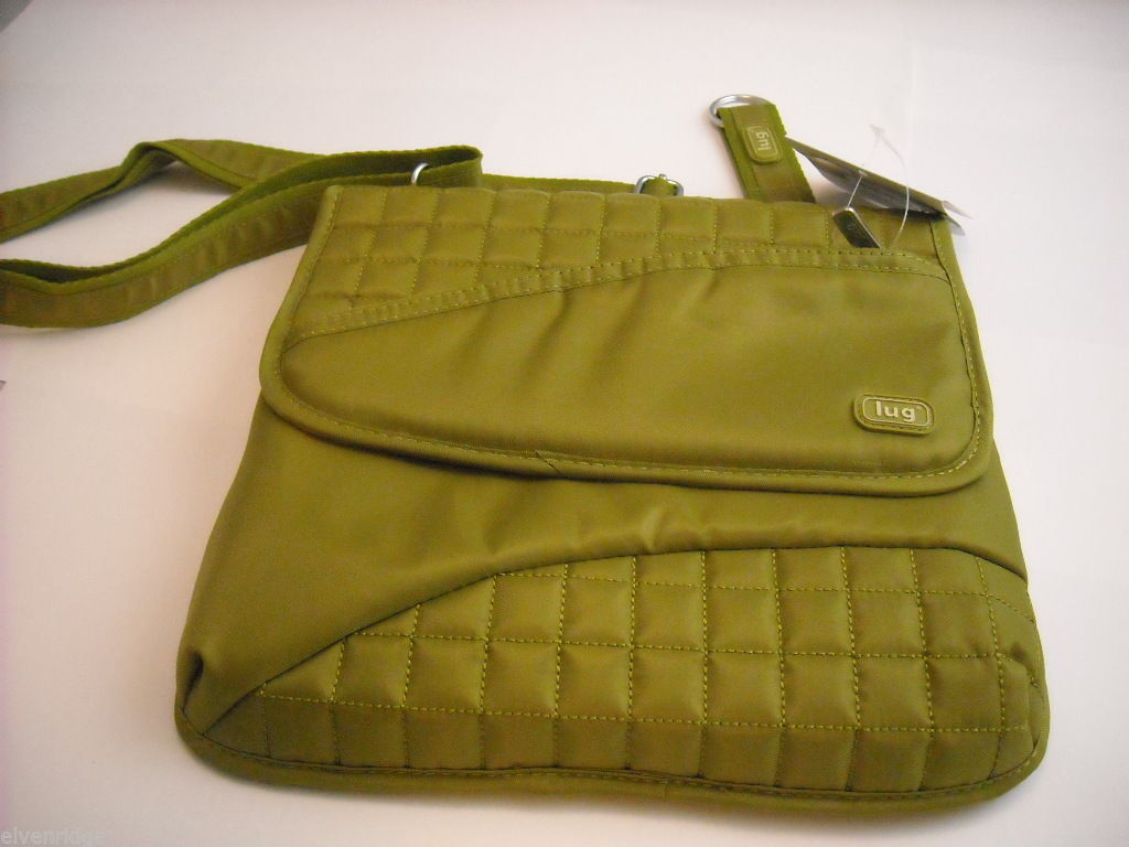 LUG Somersault Cross Body Purse Grass Green