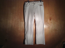 LOFT Original Boot White Corduroy Pants Size 12 by Ann Taylor Front Back Pockets