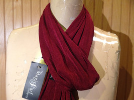 Maroon Fashion Scarf by Magic Scarf Company Angular Ends TAG ATTACHED image 3