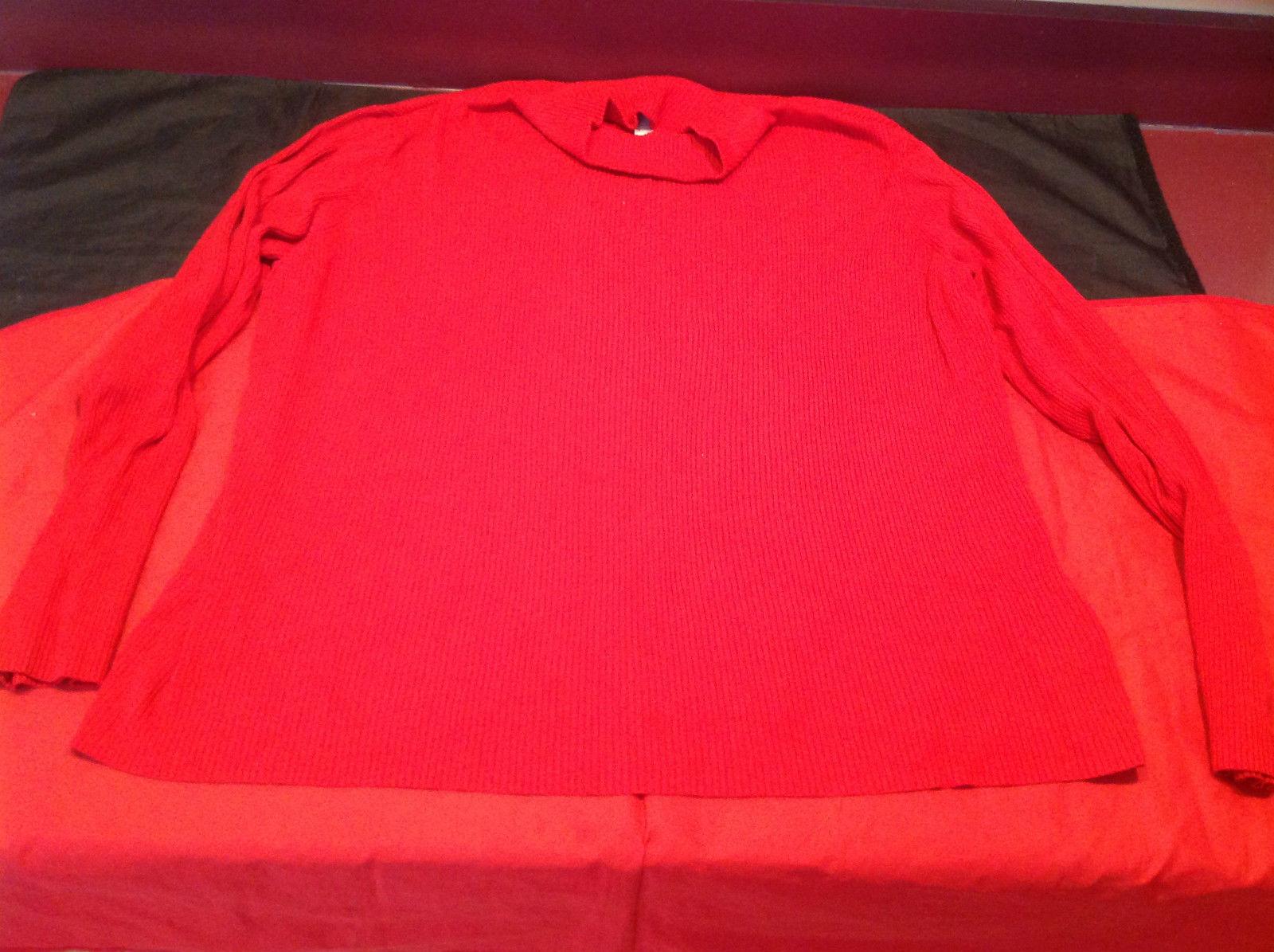 Ladies Long Sleeve Red Worthington Sweater Size 3X