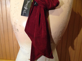 Maroon Fashion Scarf by Magic Scarf Company Angular Ends TAG ATTACHED image 5