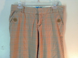 Abercrombie and Fitch Size 6 Stretch Waist Brown Capris with Blue Stripes image 2