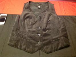 Ladies New York Co. Black Vest Size 14