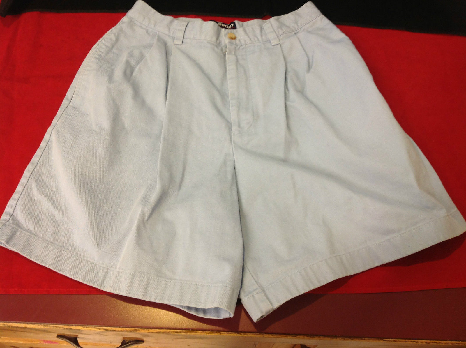 Ladies Polo Sport Ralph Lauren Shorts Light Blue Very Good Condition Size 6