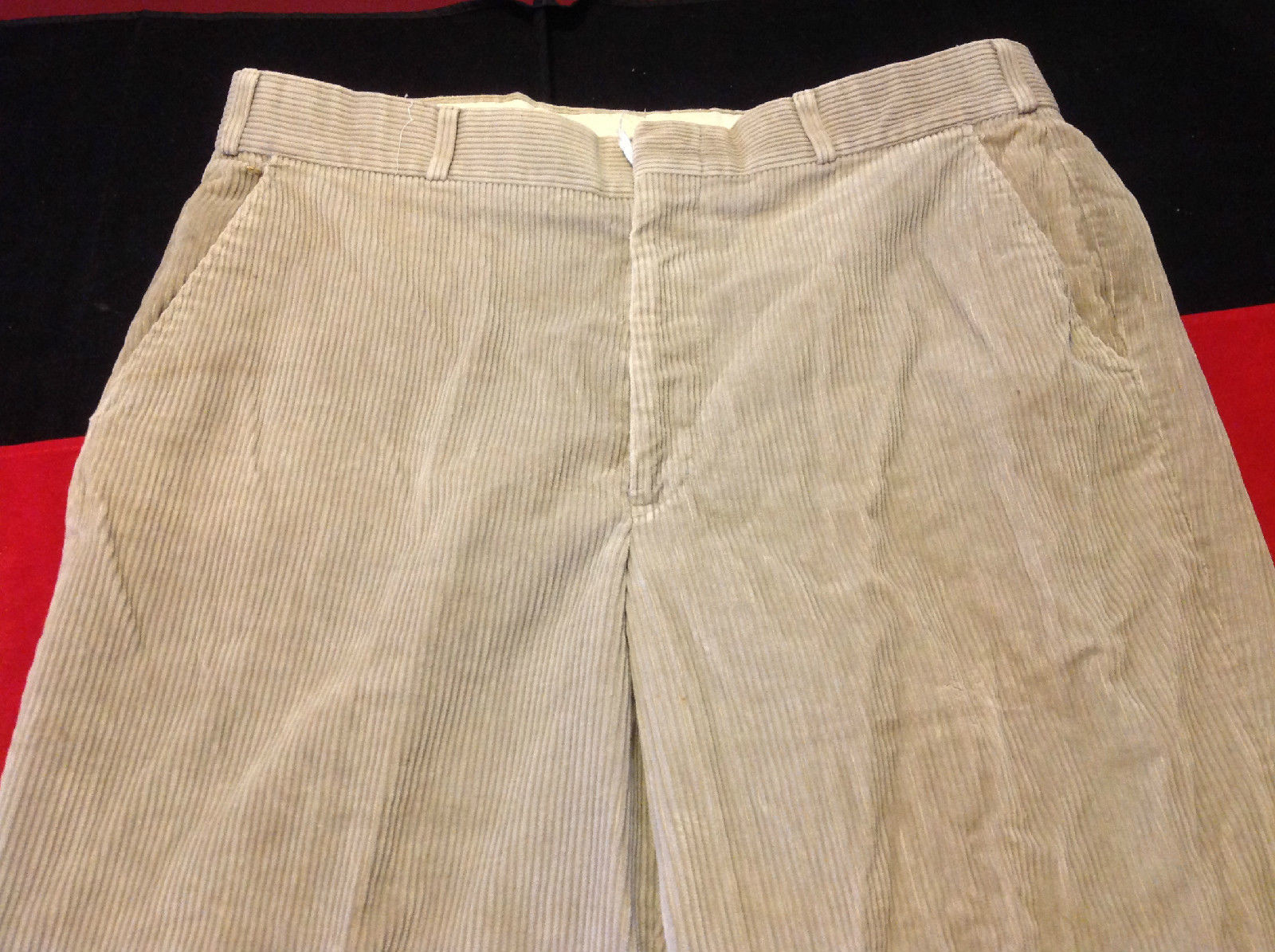 Ladies Thomson Corduroy Light Brown Long Pants 19 Inch W