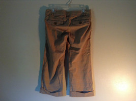 Abercrombie and Fitch Size 6 Stretch Waist Brown Capris with Blue Stripes image 6