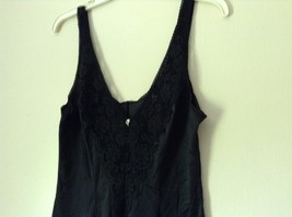 J C Penny Fantasia Lingerie Night Black Camisole Top Laced Rose on Front image 6