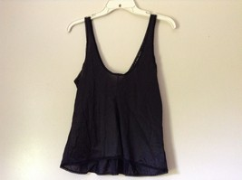 J C Penny Fantasia Lingerie Night Black Camisole Top Laced Rose on Front image 7