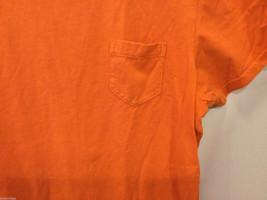 J.Crew Bright Orange T-Shirt Top with one pocket, NO Size tag (see measures) image 2