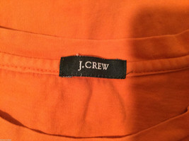 J.Crew Bright Orange T-Shirt Top with one pocket, NO Size tag (see measures) image 4