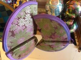 Ladies petite clutch set 2 w satin pattern fan nesting perfect 4 luncheons image 1